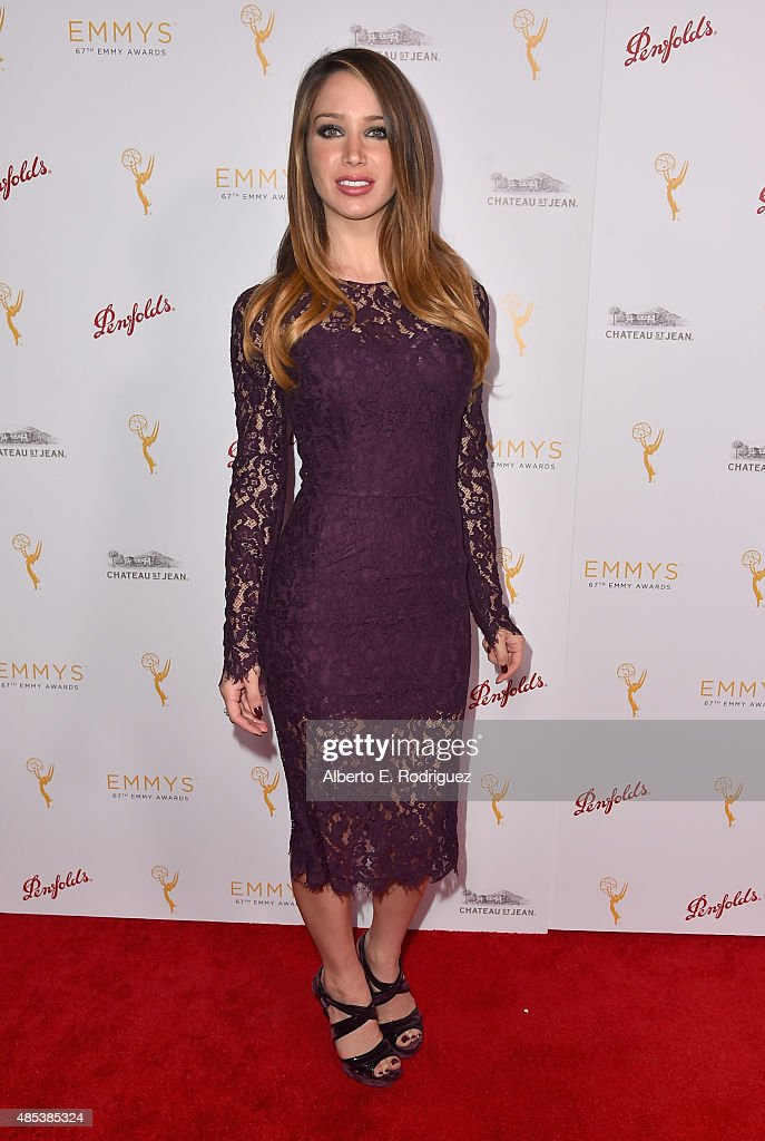 Actress Celeste Fianna attends a cocktail reception hosted by the Academy of Television Arts & Sciences celebrating the Daytime Peer Group at Montage Beverly Hills on August 26, 2015 in Beverly Hills, California.