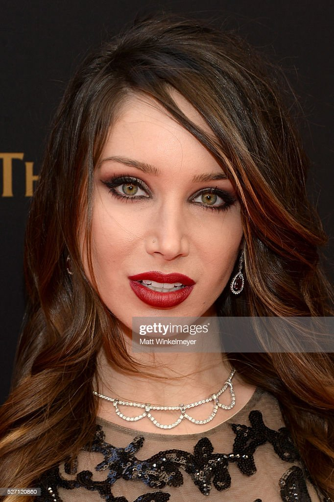 Actress Celeste Fianna walks the red carpet at the 43rd Annual Daytime Emmy Awards at the Westin Bonaventure Hotel on May 1, 2016 in Los Angeles, California.
