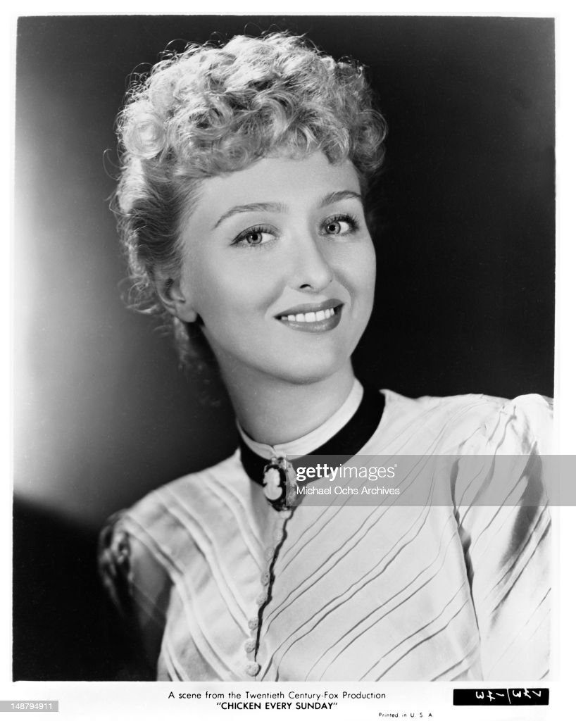 Actress <a gi-track='captionPersonalityLinkClicked' href=/galleries/search?phrase=Celeste+Holm&family=editorial&specificpeople=208238 ng-click='$event.stopPropagation()'>Celeste Holm</a> poses for a portrait to promote the 20th Century-Fox movie 'Chicken Every Sunday' in 1949.
