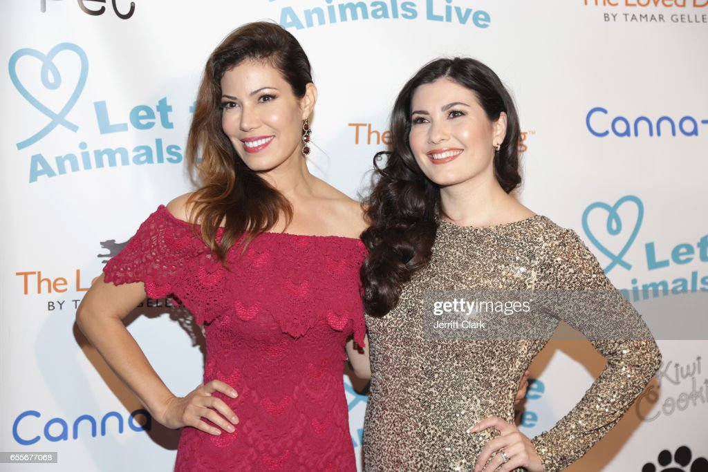Actress Celeste Thorson (R) attends the Let The Animals Live Gala at The Olympic Collection Banquet & Conference Center on March 19, 2017 in Los Angeles, California.