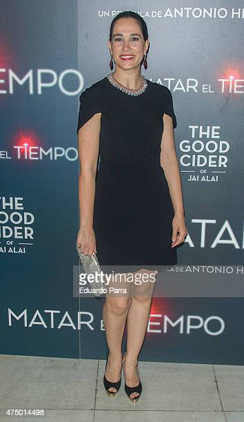 Actress Celia Freijeiro attends 'Matar el tiempo' premiere at Capitol cinema on May 28 2015 in Madrid Spain