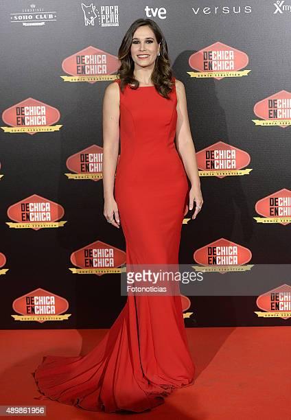 Actress Celia Freijeiro attends the 'De Chica en Chica' Premiere at Palafox Cinema on September 24 2015 in Madrid Spain