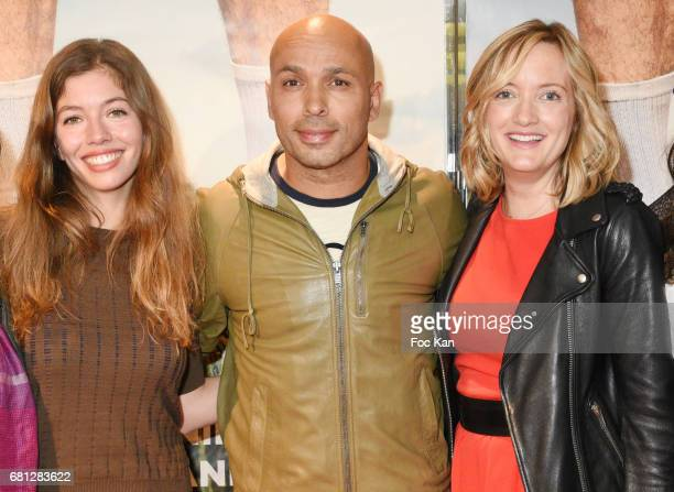 Actress Celia Rosich director/actor Eric Judor and actress Dorothee Pousseo attend 'Problemos' Paris Premiere At UGC Cine Cite Les Halles on May 9...