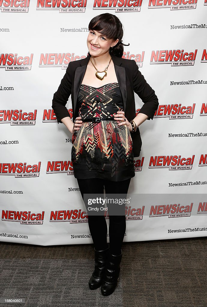 Actress Celina Carvajal attends Cheri Oteri's debut in 'Newsical The Musical' on December 9, 2012 in New York City.