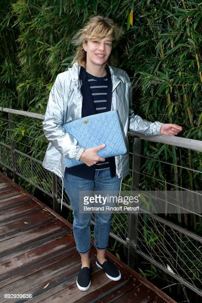 Actress Celine Sallette attends the 2017 French Tennis Open Day Ten at Roland Garros on June 6 2017 in Paris France