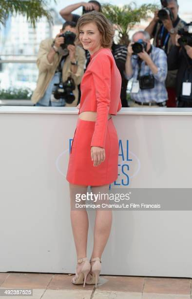 Actress Celine Sallette attends the 'Geronimo' photocall at the 67th Annual Cannes Film Festival on May 20 2014 in Cannes France