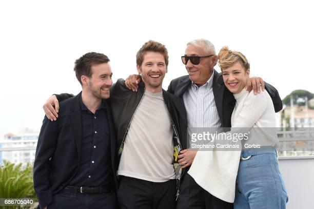 Actress Celine Sallette director Andre Techine Actors Pierre Deladonchamps and Grégoire LeprinceRinguet attend the 'Our Crazy Years ' photocall...