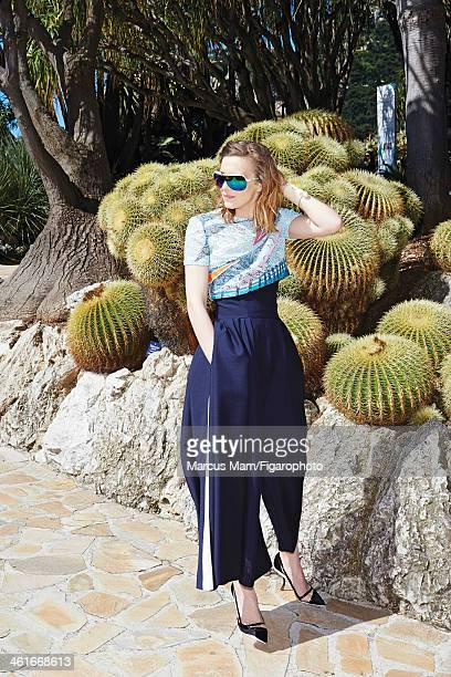 106430027 Actress Celine Sallette is photographed for Madame Figaro on May 19 2013 at the Jardin Exotique de Monaco in Monaco Monaco Clothing and...