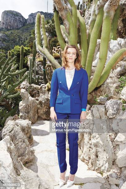 106430029 Actress Celine Sallette is photographed for Madame Figaro on May 19 2013 at the Jardin Exotique de Monaco in Monaco Monaco Clothing and...