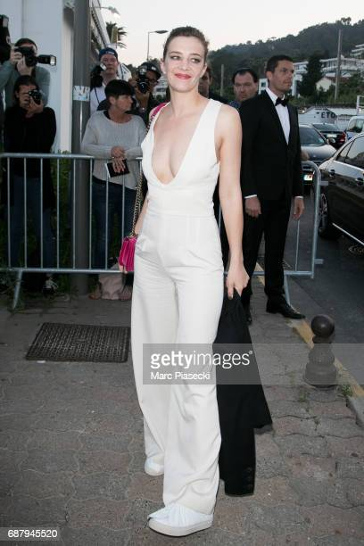 Actress Celine Sallette is spotted during the 70th annual Cannes Film Festival at the 'Vanity Fair CHANEL' dinner at Tetou restaurant on May 24 2017...