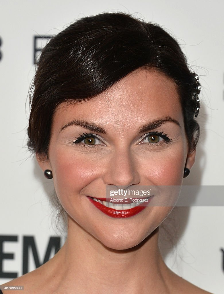 Actress Ceri Bethan arrives to the premiere of 'Cavemen' at the ArcLight Cinemas on February 5, 2014 in Hollywood, California.