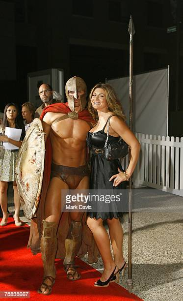 Actress Cerina Vincent poses for photographers at the DVD release for the '300' held at Petco Park Stadium on July 272007 in San Diego California