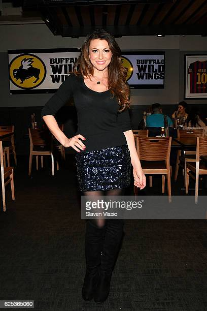 Actress Cerina Vincent visits Buffalo Wild Wings Times Square on November 23 2016 in New York City
