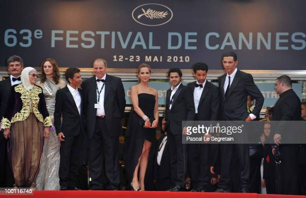 Actress Chafia Boudraa French director Rachid Bouchareb Melissa Theuriau Jamel Debbouze Sami Bouajila and Roschdy Zem attend the 'Outside Of The Law'...