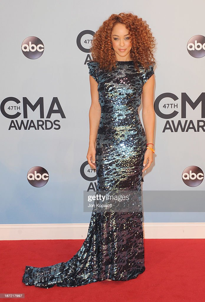 Actress <a gi-track='captionPersonalityLinkClicked' href=/galleries/search?phrase=Chaley+Rose&family=editorial&specificpeople=10115530 ng-click='$event.stopPropagation()'>Chaley Rose</a> attends the 47th annual CMA Awards at the Bridgestone Arena on November 6, 2013 in Nashville, Tennessee.
