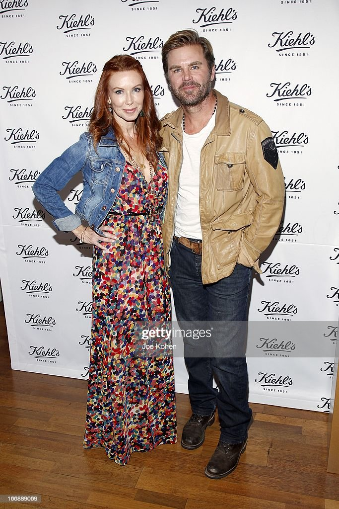 Actress Challen Cates (L) and Aaron McPherson attend Kiehl's launches environmental partnership benefiting recycle across America at Kiehl's Since 1851 Santa Monica Store on April 17, 2013 in Santa Monica, California.