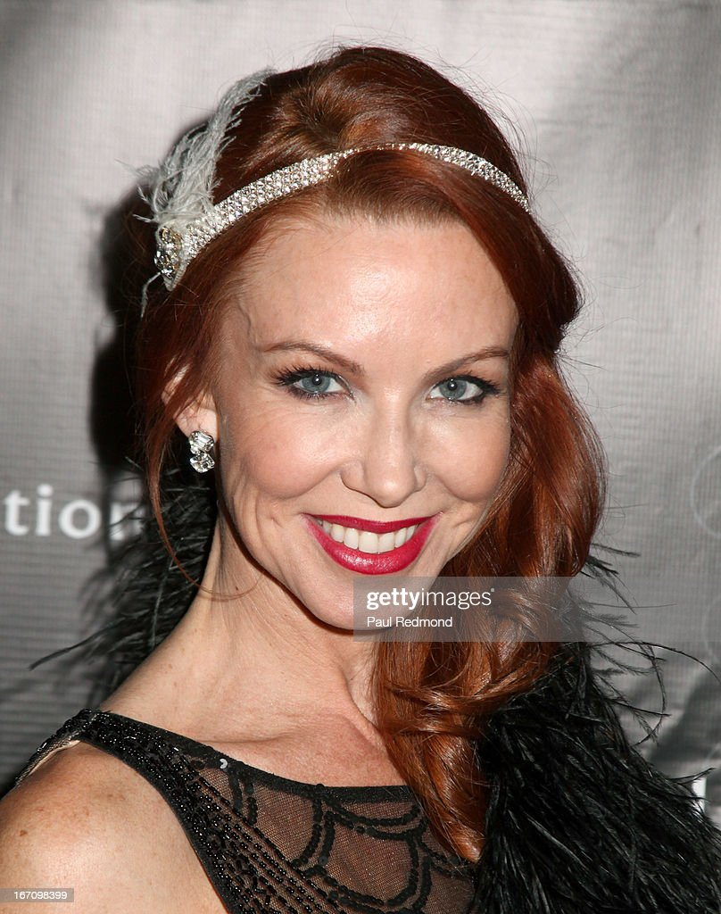 Actress Challen Cates attends Sue Wong's Great Gatsby Fall 2013 Collection on April 19, 2013 in Los Angeles, California.