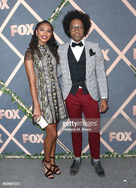 Actress Chandler Kinney and actor Johnathan Fernandez attend FOX Fall Party at Catch LA on September 25 2017 in West Hollywood California