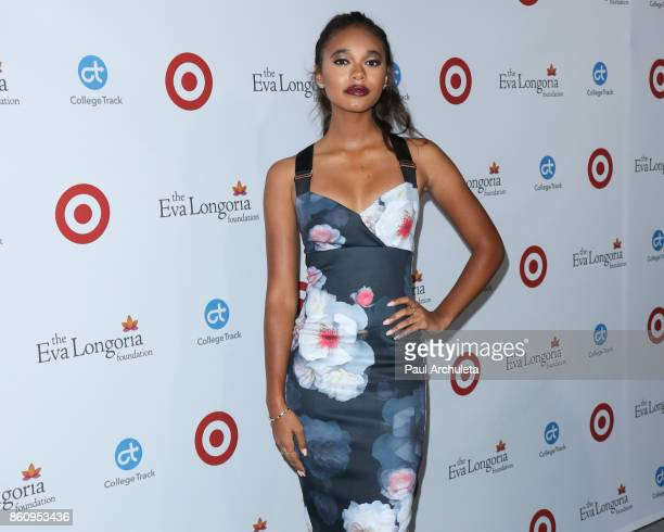 Actress Chandler Kinney attends the Eva Longoria Foundation annual dinner at The Four Seasons Hotel Los Angeles at Beverly Hills on October 12 2017...