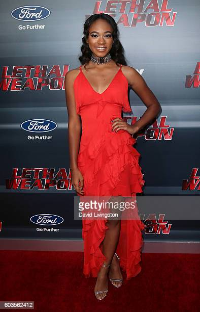 Actress Chandler Kinney attends the premiere of Fox Network's 'Lethal Weapon' at NeueHouse Hollywood on September 12 2016 in Los Angeles California