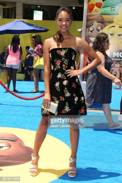 Actress Chandler Kinney attends the premiere of 'The Emoji Movie' at Regency Village Theatre on July 23 2017 in Westwood California