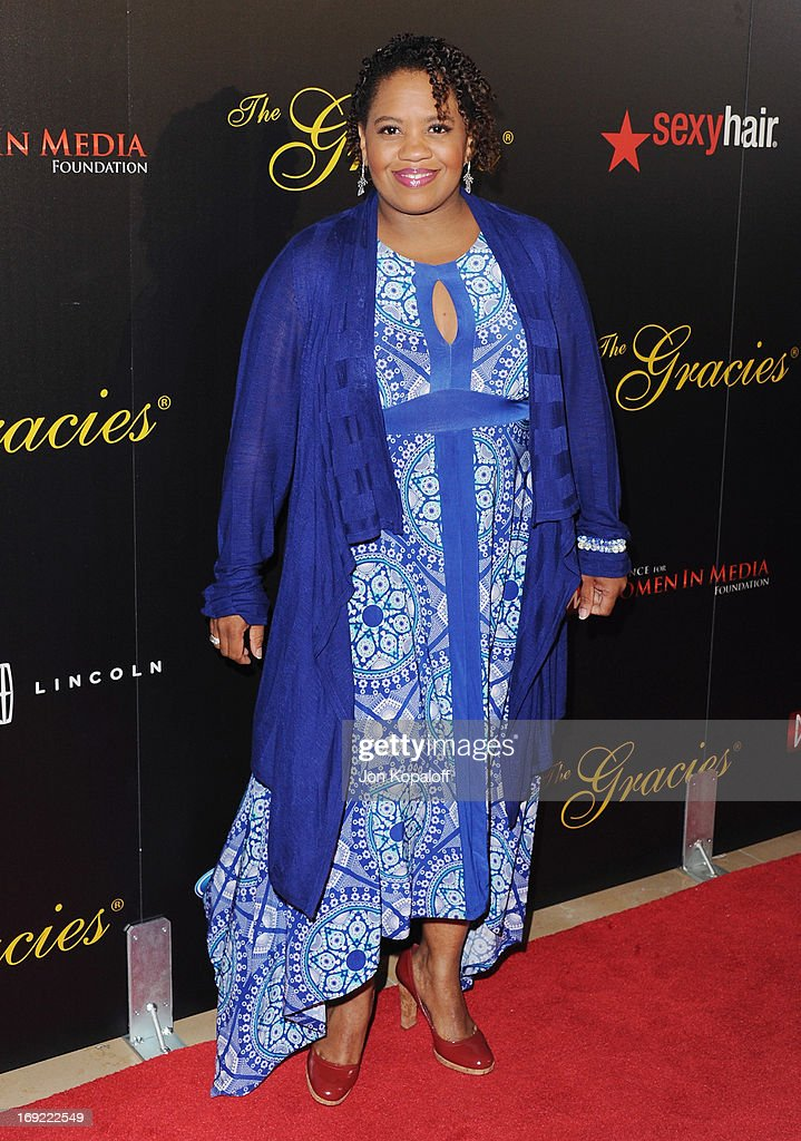 Actress <a gi-track='captionPersonalityLinkClicked' href=/galleries/search?phrase=Chandra+Wilson&family=editorial&specificpeople=457286 ng-click='$event.stopPropagation()'>Chandra Wilson</a> arrives 38th Annual Gracie Awards Gala at The Beverly Hilton Hotel on May 21, 2013 in Beverly Hills, California.