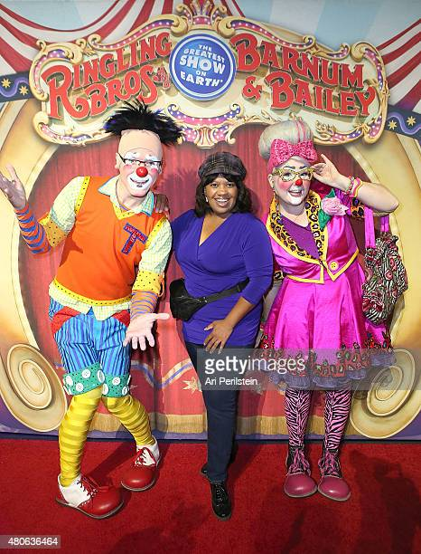 Actress Chandra Wilson arrives at Ringling Bros and Barnum Bailey Presents Circus XTREME VIP Celebrity Premiere at Staples Center on July 13 2015 in...