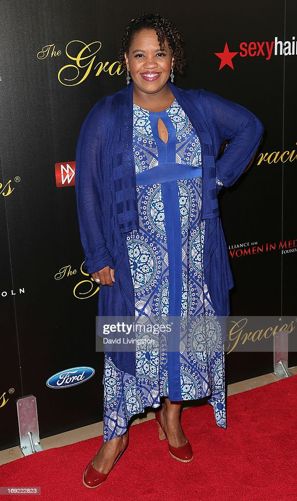 Actress <a gi-track='captionPersonalityLinkClicked' href=/galleries/search?phrase=Chandra+Wilson&family=editorial&specificpeople=457286 ng-click='$event.stopPropagation()'>Chandra Wilson</a> attends the 38th Annual Gracie Awards Gala at The Beverly Hilton Hotel on May 21, 2013 in Beverly Hills, California.