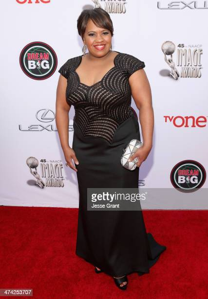 Actress Chandra Wilson attends the 45th NAACP Image Awards presented by TV One at Pasadena Civic Auditorium on February 22 2014 in Pasadena California