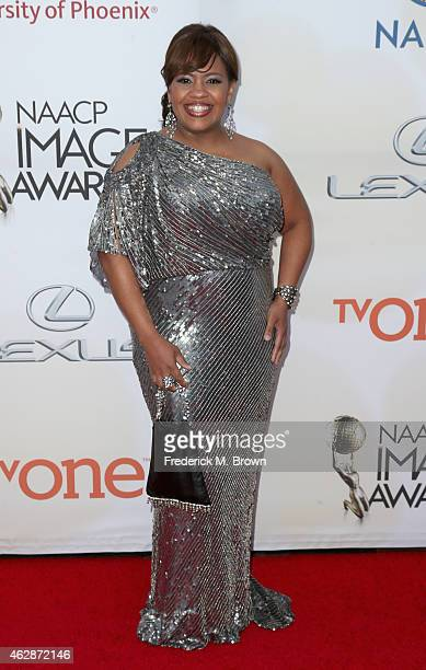Actress Chandra Wilson attends the 46th NAACP Image Awards presented by TV One at Pasadena Civic Auditorium on February 6 2015 in Pasadena California