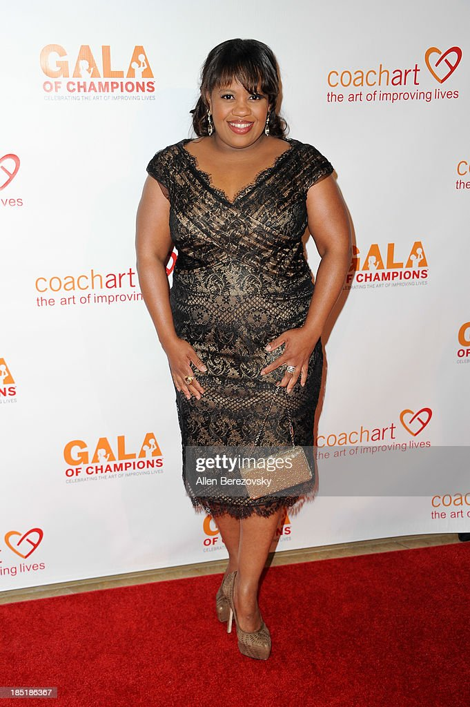 Actress <a gi-track='captionPersonalityLinkClicked' href=/galleries/search?phrase=Chandra+Wilson&family=editorial&specificpeople=457286 ng-click='$event.stopPropagation()'>Chandra Wilson</a> attends the CoachArt Gala of Champions at The Beverly Hilton Hotel on October 17, 2013 in Beverly Hills, California.