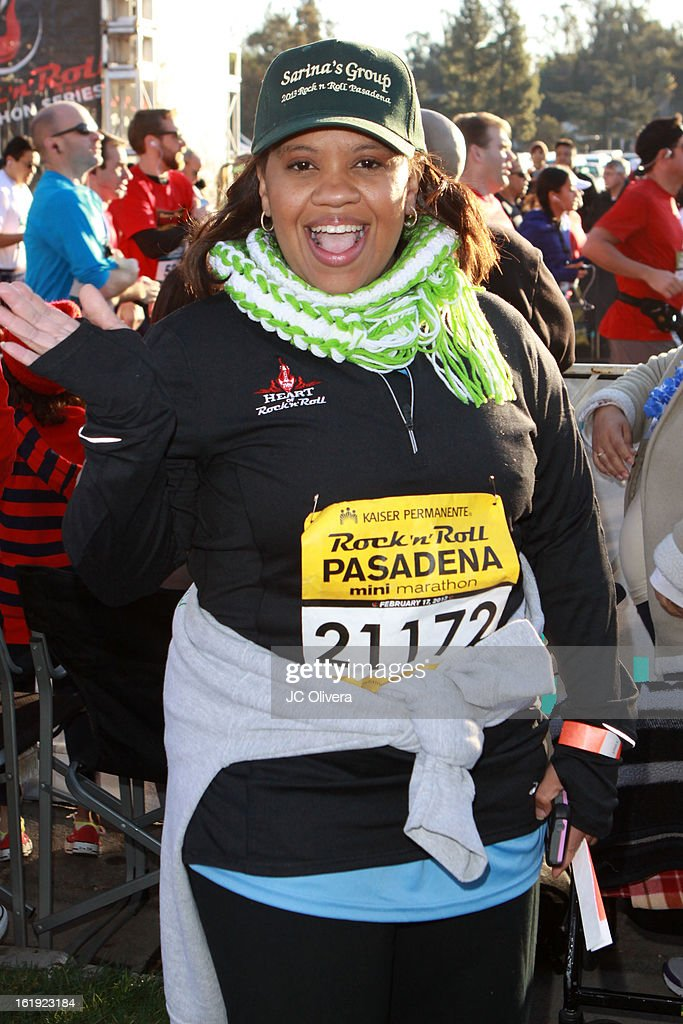 Actress <a gi-track='captionPersonalityLinkClicked' href=/galleries/search?phrase=Chandra+Wilson&family=editorial&specificpeople=457286 ng-click='$event.stopPropagation()'>Chandra Wilson</a> attends the Kaiser Permanente Rock 'N' Roll Pasadena half marathon benefiting CureMito! at Rose Bowl on February 17, 2013 in Pasadena, California.