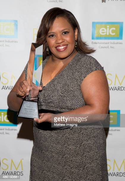 Actress Chandra Wilson poses with the 2014 PRISM Award for Female Performance in a Drama Series MultiEpisode Storyline at the 18th Annual PRISM...