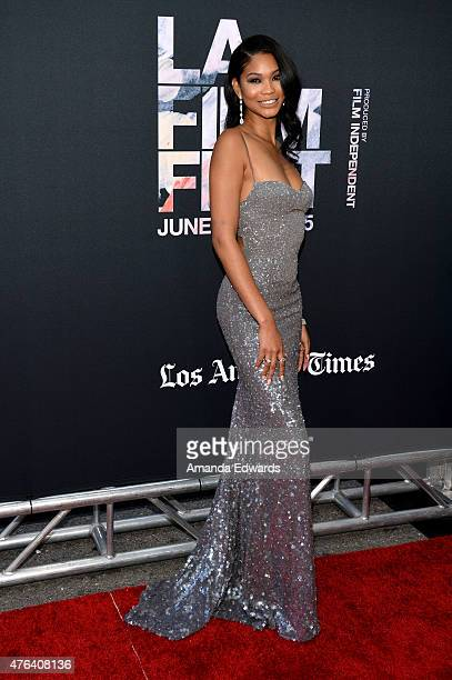 Actress Chanel Iman attends the Los Angeles premiere of 'Dope' in partnership with the Los Angeles Film Festival at Regal Cinemas LA Live on June 8...