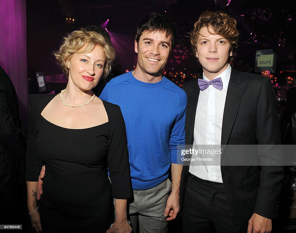 Actress Chantal Craig, actor Yannick Bisson, and actor Michael Seater attend the Canadian Film Centre 2009 Gala and Auction at the Kool Haus on February 11, 2009 in Toronto, Ontario, Canada.