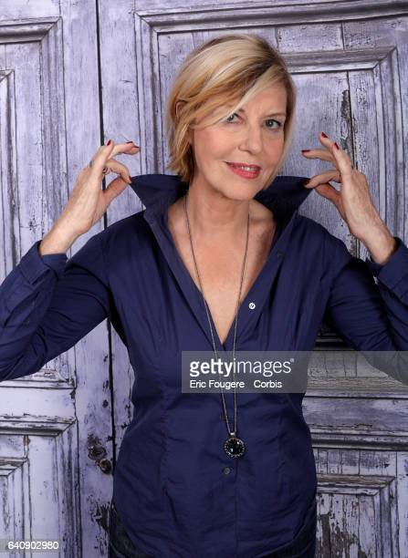 Actress Chantal Ladesou poses during a portrait session on October 19 2016 in Paris France