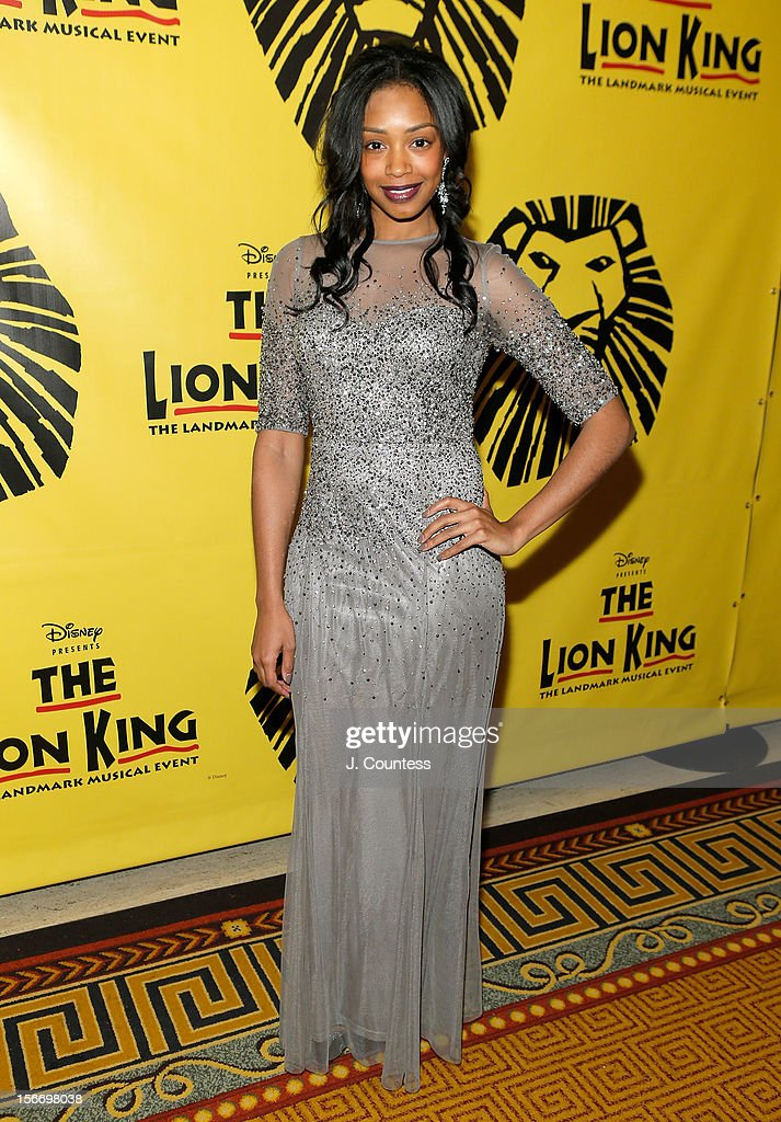 Actress Chantel Riley attends the afterparty for 'The Lion King' Broadway 15th Anniversary Celebration at Minskoff Theatre on November 18, 2012 in New York City.