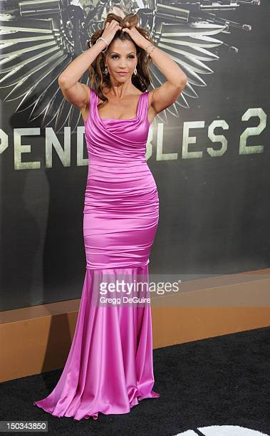 Actress Charisma Carpenter arrives at Los Angeles premiere of 'The Expendables 2' at Grauman's Chinese Theatre on August 15 2012 in Hollywood...