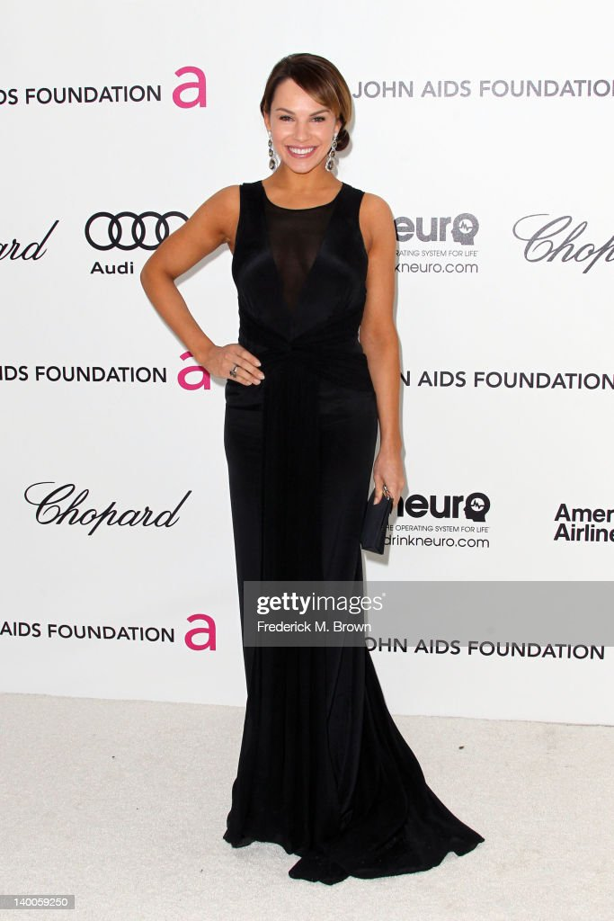 Actress Charity Shea arrives at the 20th Annual Elton John AIDS Foundation's Oscar Viewing Party held at West Hollywood Park on February 26, 2012 in West Hollywood, California.