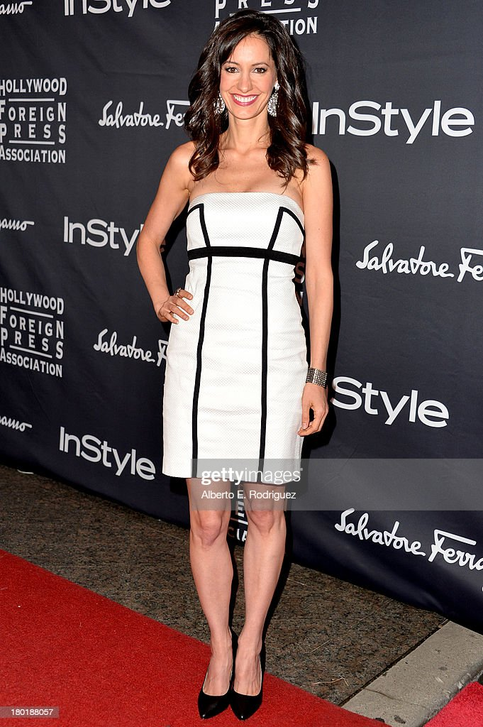 Actress Charlene Amoia arrives at the TIFF HFPA / InStyle Party during the 2013 Toronto International Film Festival at Windsor Arms Hotel on September 9, 2013 in Toronto, Canada.