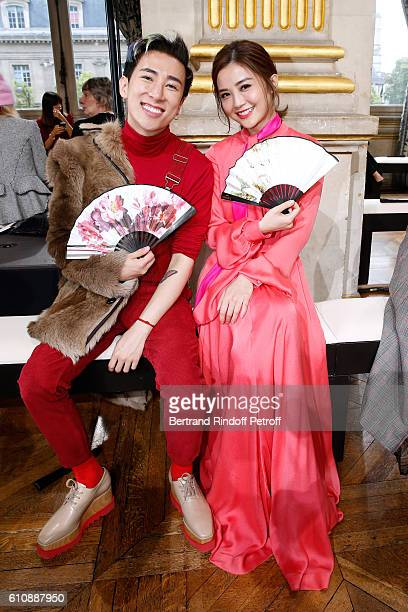 Actress Charlene Choi and guest attend the Lanvin show as part of the Paris Fashion Week Womenswear Spring/Summer 2017 Held at Paris City Hall on...