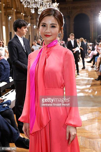 Actress Charlene Choi attends the Lanvin show as part of the Paris Fashion Week Womenswear Spring/Summer 2017 Held at Paris City Hall on September 28...