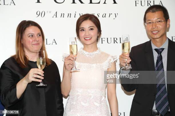Actress Charlene Choi attends the opening ceremony of a Furla store on May 17 2017 in Hong Kong China