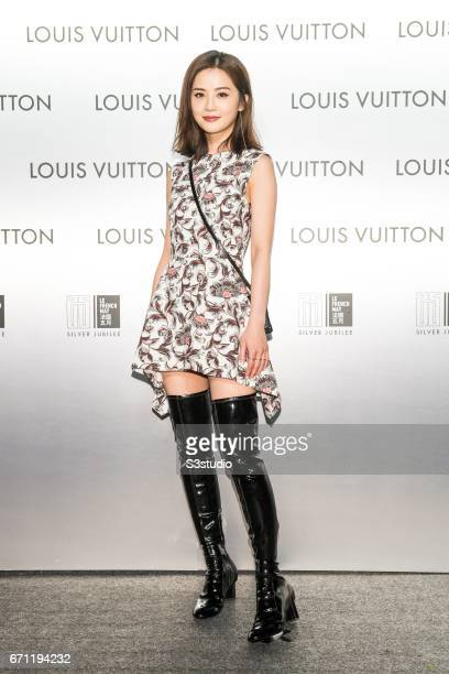 Actress Charlene Choi poses at the red carpet during the opening night of the Time Capsule Exhibition by Louis Vuitton on 21 April 2017 in Hong Kong...