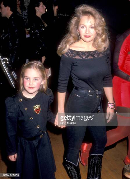 Actress Charlene Tilton and daughter Cherish Lee attend the 16th Annual American Music Awards on January 30 1989 at Shrine Auditorium in Los Angeles...