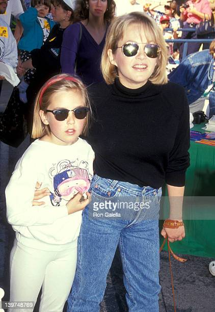 Actress Charlene Tilton and daughter Cherish Lee attend the 1991 Permanent Charities Committee of the Entertainment Industries' Celebrity WalkAThon...