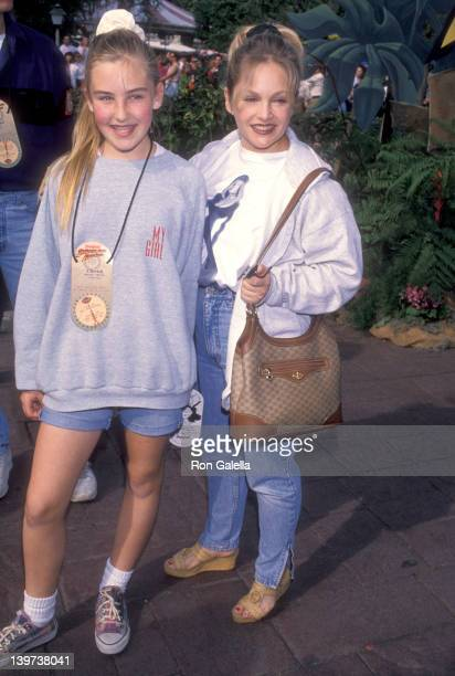 Actress Charlene Tilton and daughter Cherish Lee attend the Grand Opening of the New Disneyland Theme Park Attraction The Indiana Jones Adventure on...