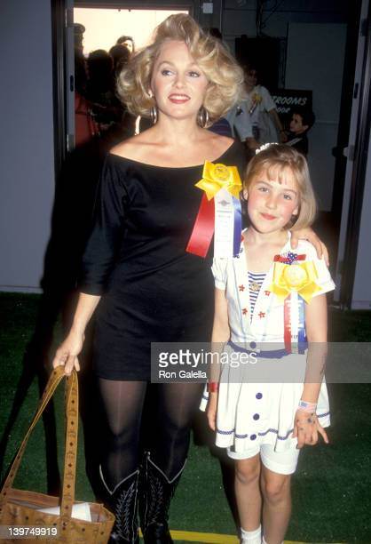 Actress Charlene Tilton and daughter Cherish Lee attend the Hollywood's 'Welcome Home Desert Storm' Parade Saluting the Troops Who Served in the...