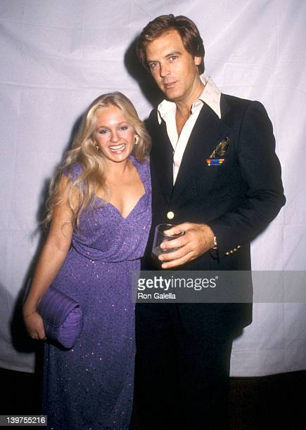 Actress Charlene Tilton and guest attend the Post Party for Elton John's Concert Performance on September 26 1979 at Victoria Station Universal...