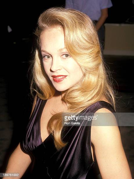 Actress Charlene Tilton and husband Domenick Allen attend the Fifth Annual American Cinema Awards on January 30 1988 at Beverly Hilton Hotel in...